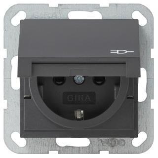 gira 041428 schuko steckdose klappdeckel erh ber hrungsschutz. Black Bedroom Furniture Sets. Home Design Ideas