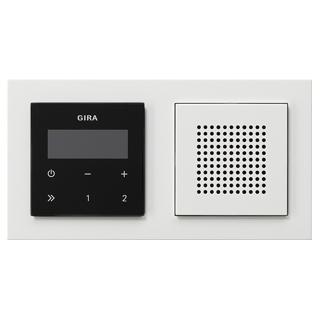 Gira Radio Weiß gira 049572 up radio rds lautsprecher rahmen e2 gira e2 weiß