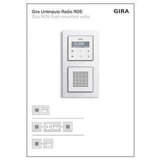 gira 1690110 p display up radio rds pr sentation 131 44. Black Bedroom Furniture Sets. Home Design Ideas