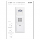GIRA 1550510 P-Display UP-Radio RDS Dockingstation...