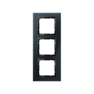 berker 10136616 glasrahmen berker b 7 glas schwarz 3fach. Black Bedroom Furniture Sets. Home Design Ideas
