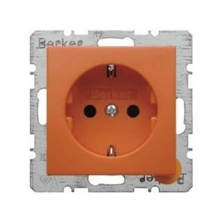 berker 47238914 schuko steckdose berker s 1 b 3 b 7 glas orange gl a. Black Bedroom Furniture Sets. Home Design Ideas