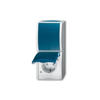 busch jaeger 2601 6 20 ebw 53 kombination wechselschalter 18 19 e. Black Bedroom Furniture Sets. Home Design Ideas
