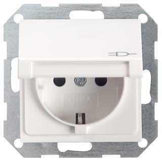 gira 045403 schuko steckdose klappdeckel system 55 reinwei 6. Black Bedroom Furniture Sets. Home Design Ideas