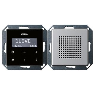 gira 2280203 up radio rds lautsprecher gira e22 aluminium 139 13 eu. Black Bedroom Furniture Sets. Home Design Ideas