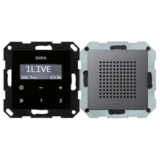 gira 228028 up radio rds lautsprecher system 55 anthrazit. Black Bedroom Furniture Sets. Home Design Ideas