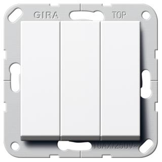 gira 283203 wippschalter 3f wechselsch system 55 reinwei 15. Black Bedroom Furniture Sets. Home Design Ideas